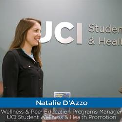 Screenshot from video showing CSWHP Wellness Programs Manager Natalia D'Azzo