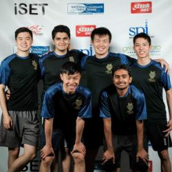 The UCI varsity table tennis team poses at the 2019 iSET National Collegiate Table Tennis Association championships